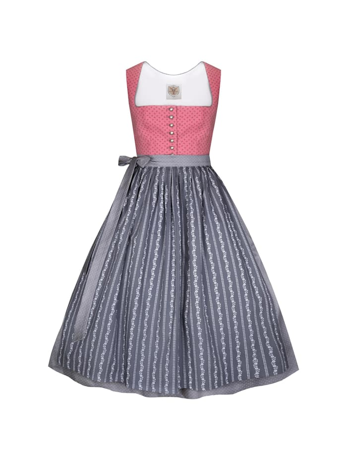 Apple of my Eye Midi Dirndl, Rose