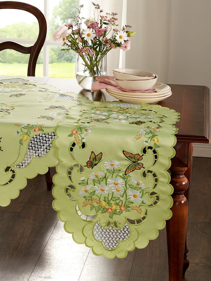 """Webschatz Linge de table """"Birgit"""", Vert/Multicolore"""