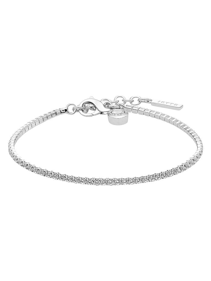 Jette JETTE Silver Damen-Armband 925er Silber 72 Zirkonia, silber
