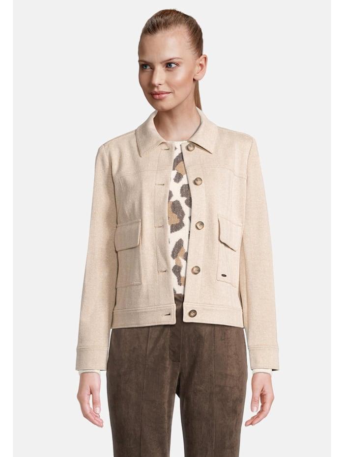 Betty & Co Blazerjacke mit Kragen Taschen, Nature/Cream