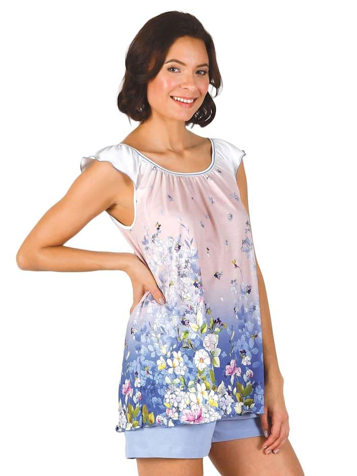 Cybèle Pyjama kurz nightwear, weiß-malve