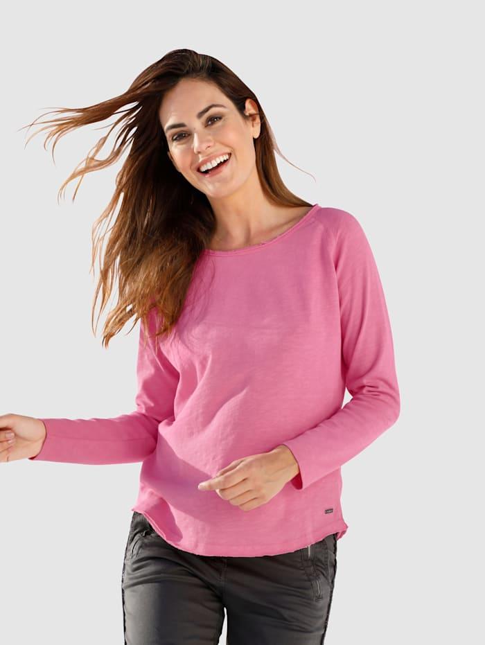 Smith & Soul Sweatshirt in leichter Baumwollqualität, Pink