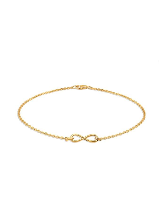 Elli Armband Infinity Unendlichkeit 925 Sterling Silber, Gold