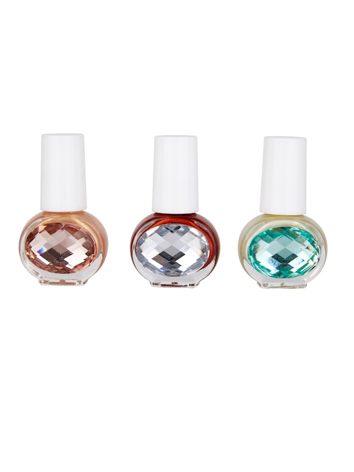 KTN Dr. Neuberger Lot de 3 vernis à ongles, Multicolore