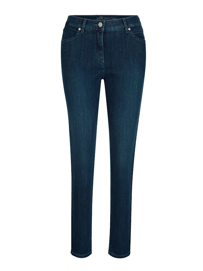 Toni Jeans van coloured denim, Blauw
