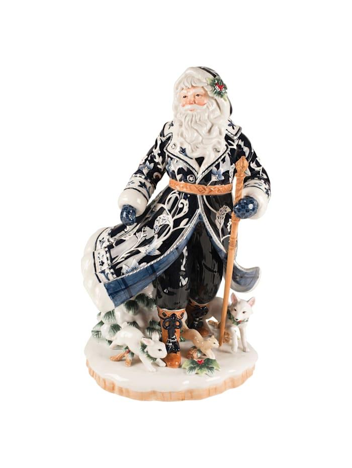 Fitz&Floyd Fitz&Floyd Figur Santa im blauen Mantel, Bunt