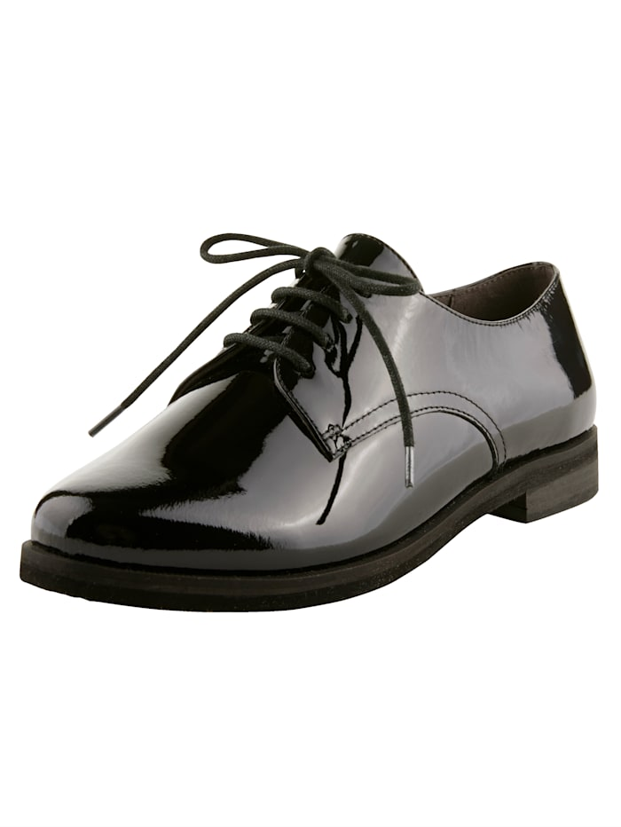 MONA Lace-up shoes in a classic design, Black