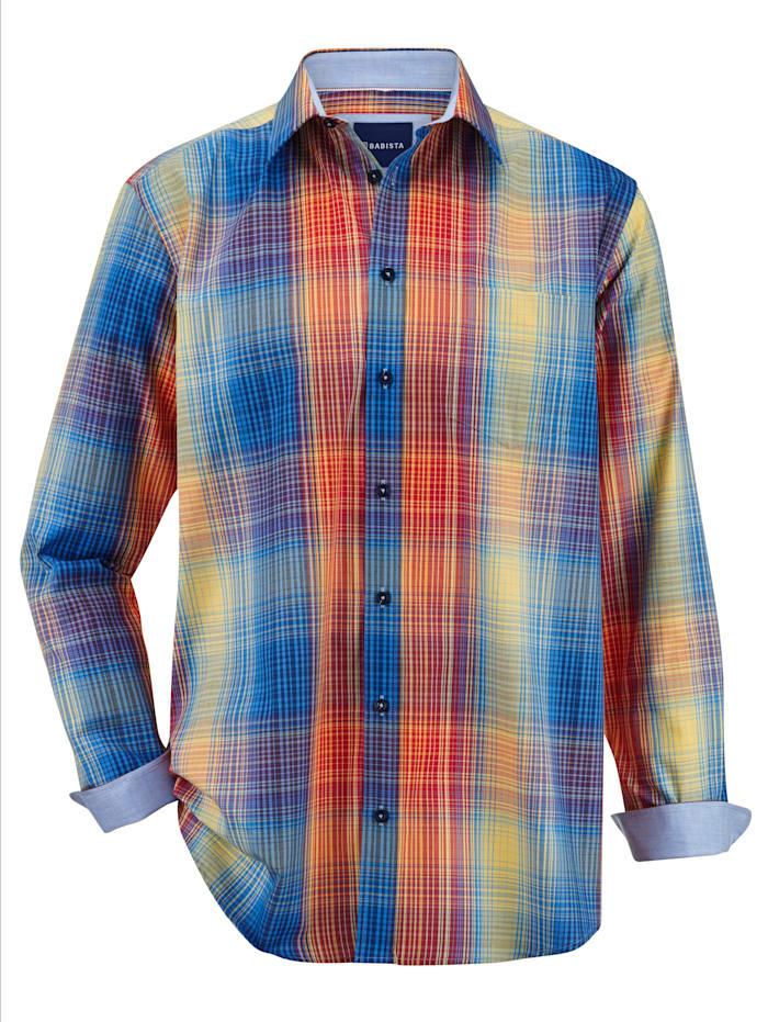 BABISTA Chemise à motif à carreaux tissé-teint, Multicolore