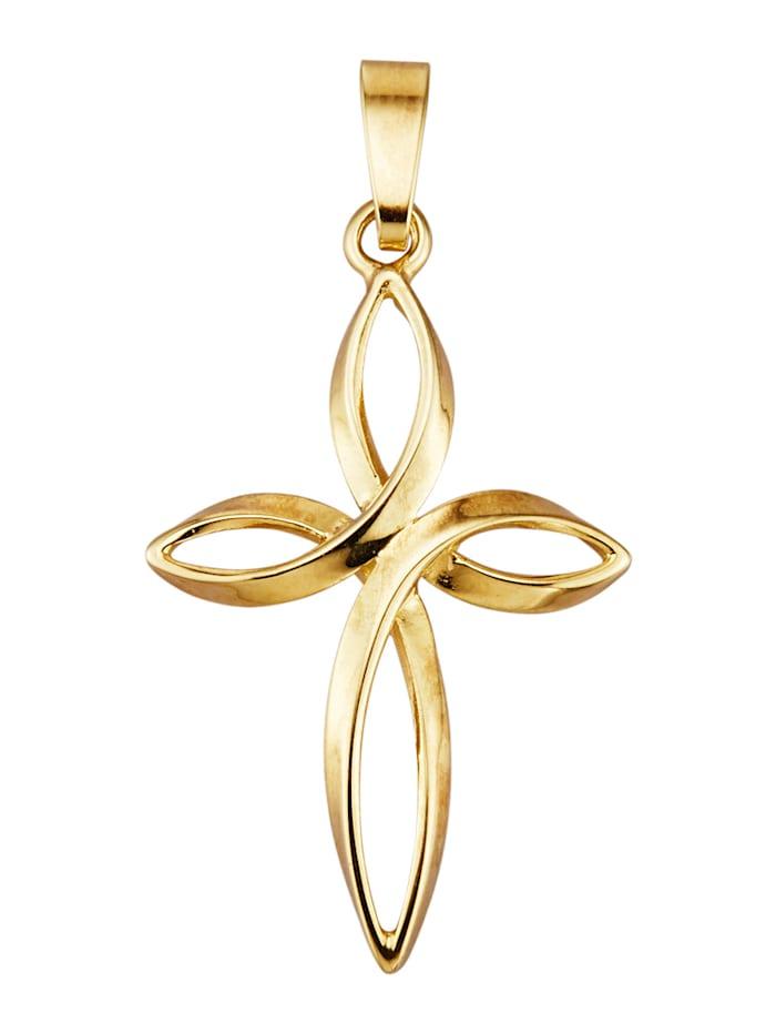 Hänge – kors i 9 k guld, Guldfärgad