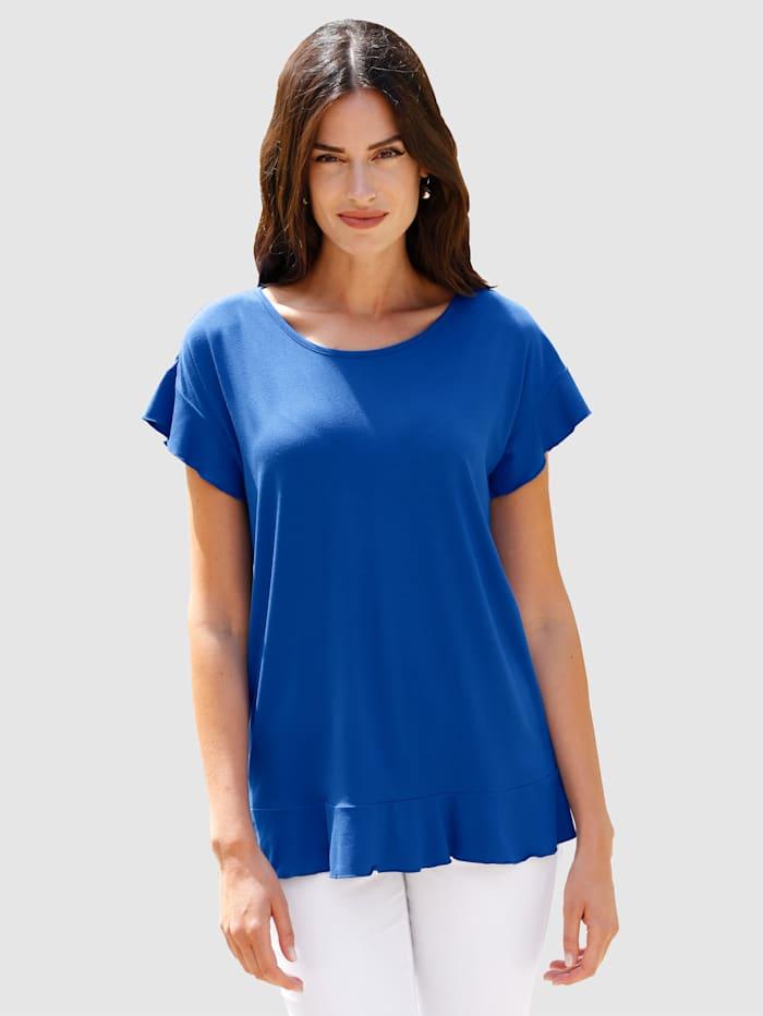 Paola Shirt mit Volant, Royalblau