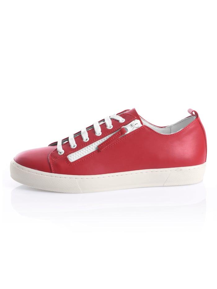 Sneakers av skinn