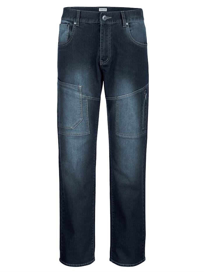 5-Pocket Jeans mit extra Taschen am Bein
