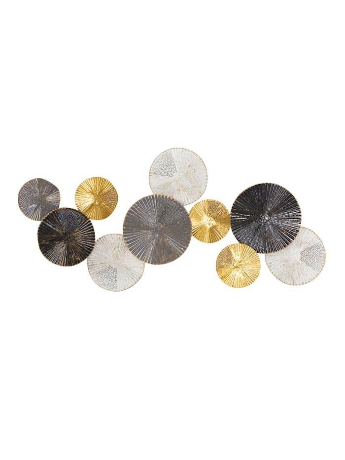 IMPRESSIONEN living Wand-Deko, weiß/grau/schwarz/goldfarben