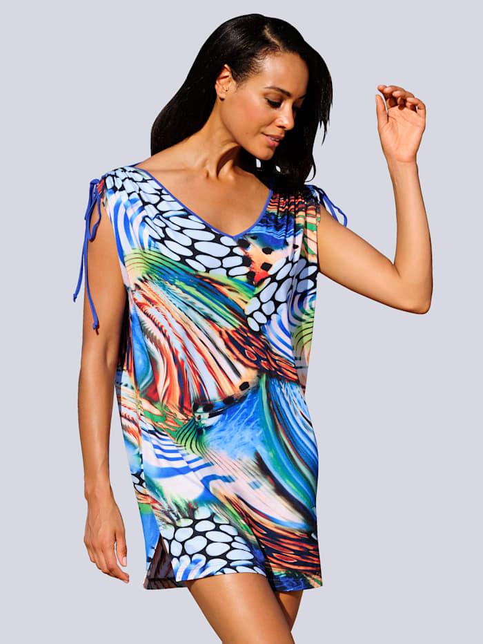 Alba Moda Strandkleid mit Raffungen, Blau