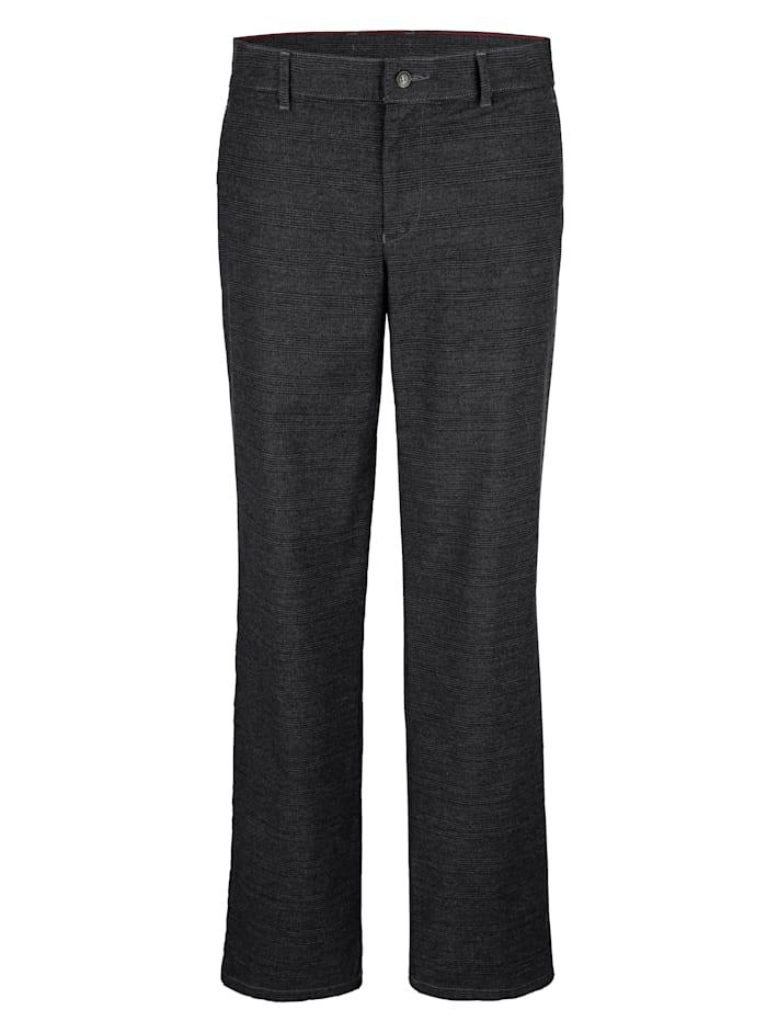 Roger Kent Pantalon sans pinces d'aspect laine, Anthracite