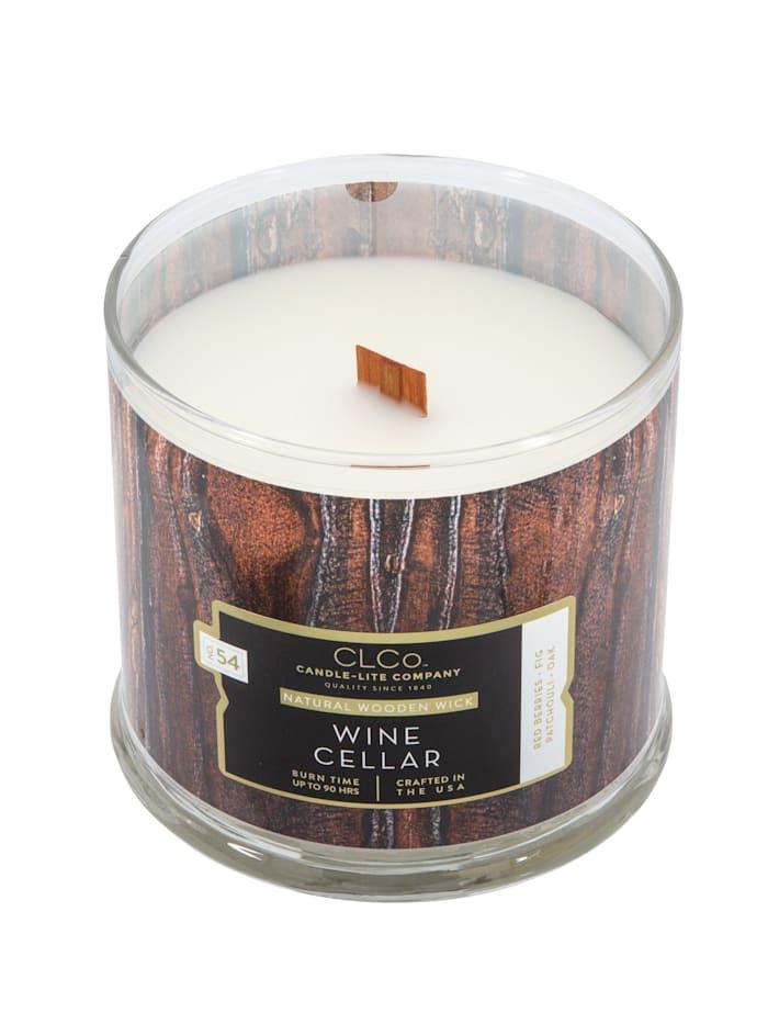 Candle-Lite Duftkerze Wein, braun/weiß