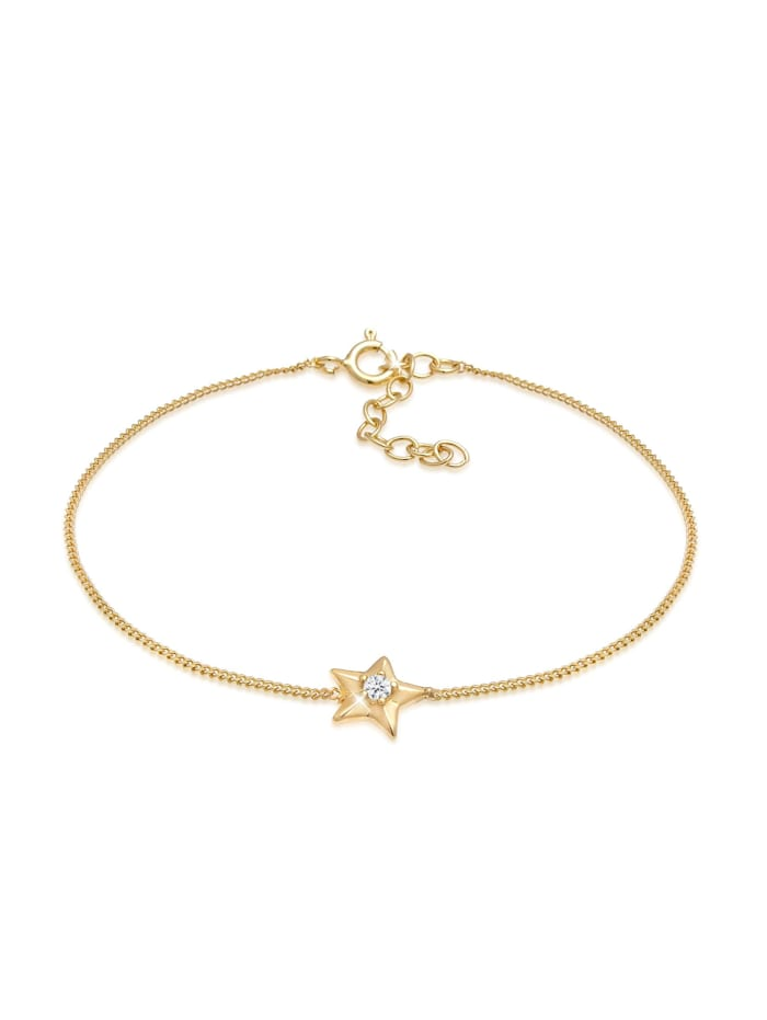 Elli Armband Stern Star Kristalle 925 Silber, Gold