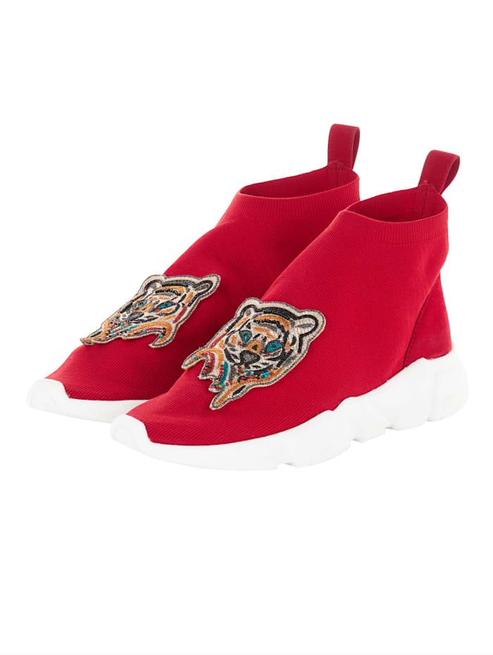 Coral Blue Sock-Sneaker Sock-Sneaker, Rot