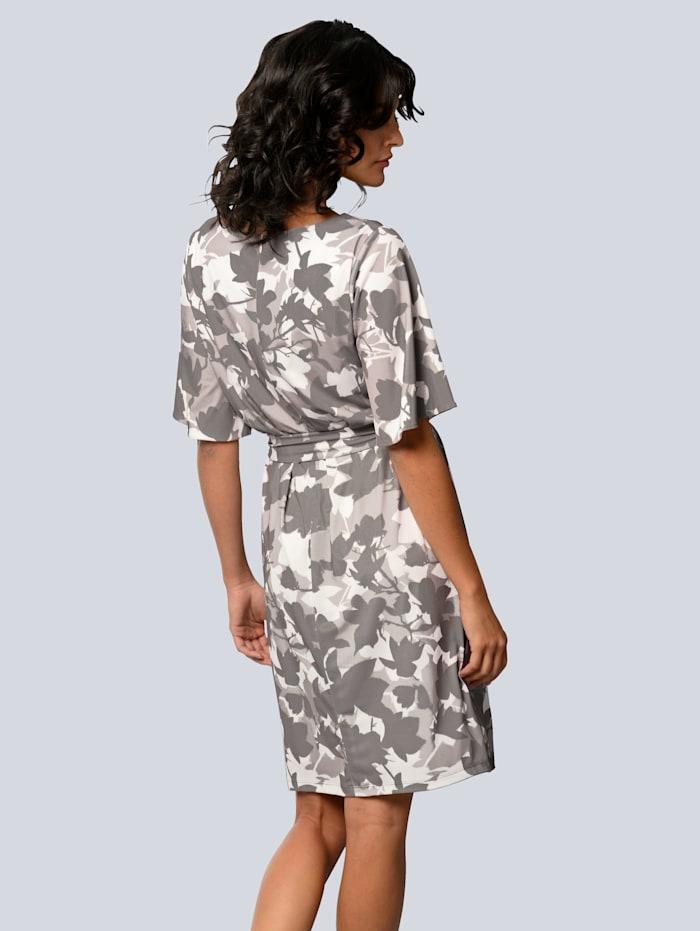 Jerseykleid allover im floralen Druck