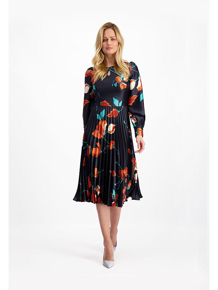 LAVARD Kleid aus glänzendem, zartem Stoff, multicolor
