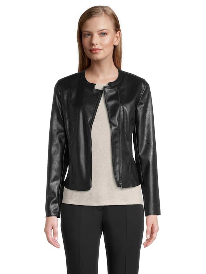 Betty & Co Blazer-Jacke mit Strukturprägung Material, Schwarz