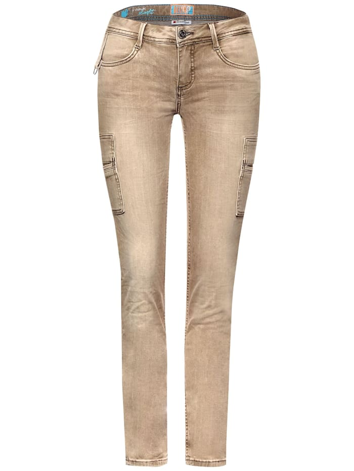 Street One Slim Fit Denim, authentic hot sand wash