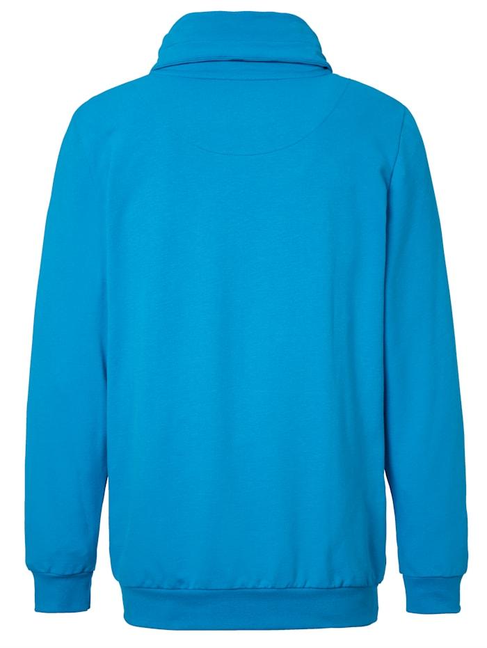 Sweatshirt met kraag met overslag