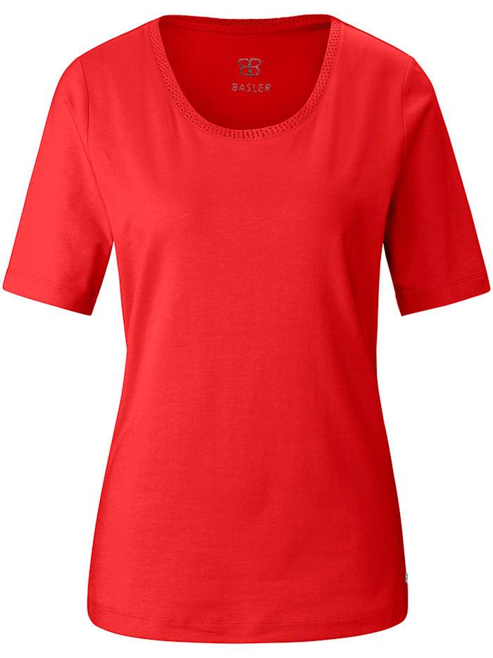 Basler T-Shirt aus unifarbenem Jersey, chili