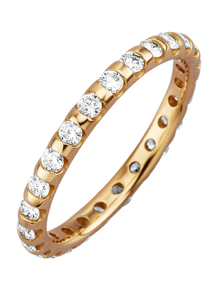 Diemer Diamant Kultainen muistosormus timanteilla, Keltakullanvärinen