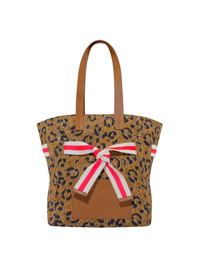 Codello Canvas-Shopper mit Leo-Print, brown