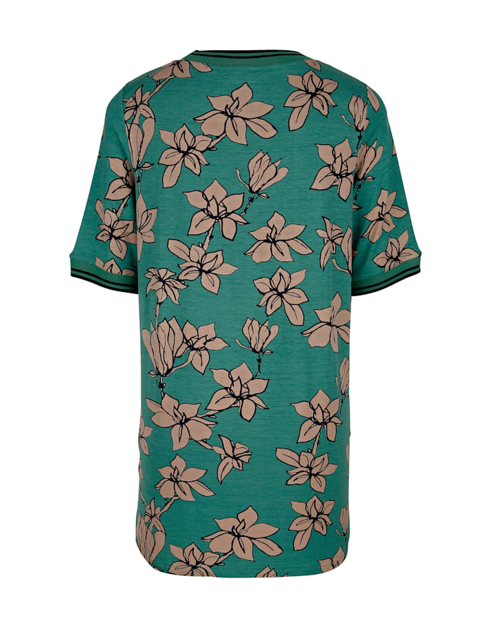 Tričko s květinovým potiskem