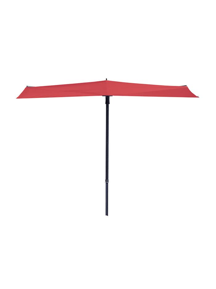 Grasekamp Balkon Sonnenschirm Fächer Schirm 300x150cm Ziegel Rot mehrfach verstellbar, Rot