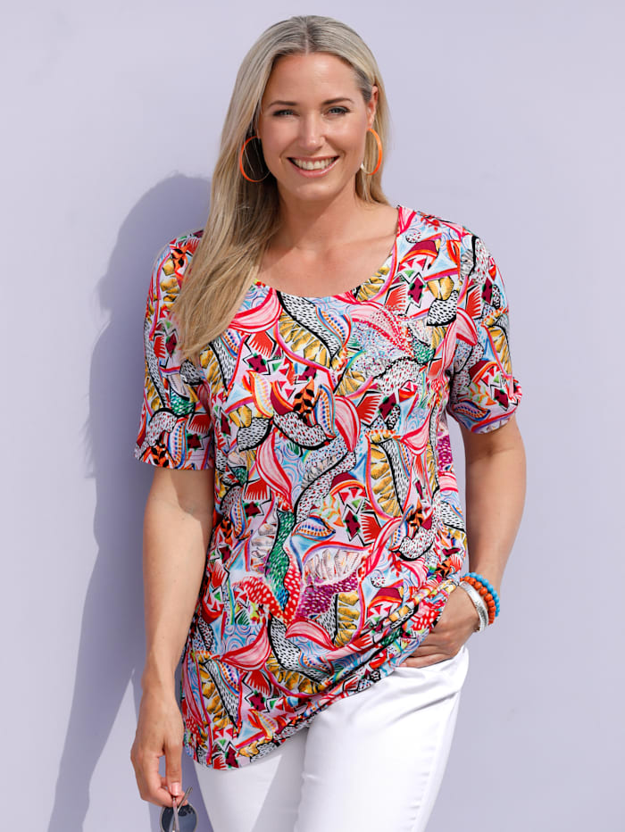 MIAMODA Shirt mit floralem Alloverprint, Multicolor