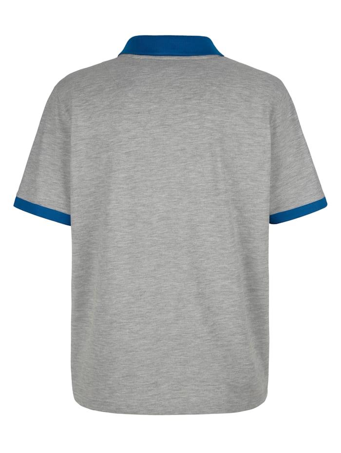 Poloshirt mit seitlichen Kontrasteinsätzen