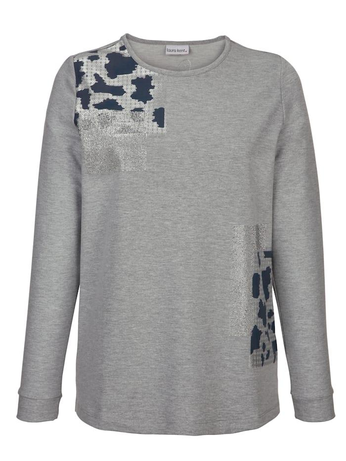 Sweatshirt mit Steinchenzier