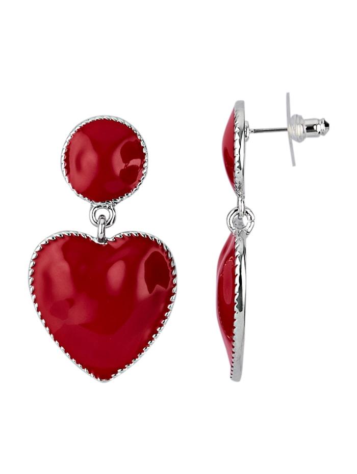 Örhängen med hjärtan, Röd