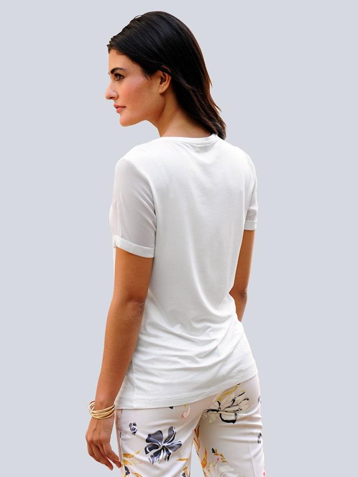 Shirt mit Schmucksteinchen am Rundhalsausschnitt