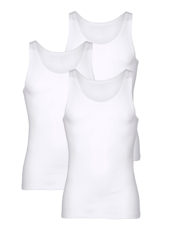 Pfeilring Unterhemden im 3er-Pack in bewährter Markenqualität, Weiß