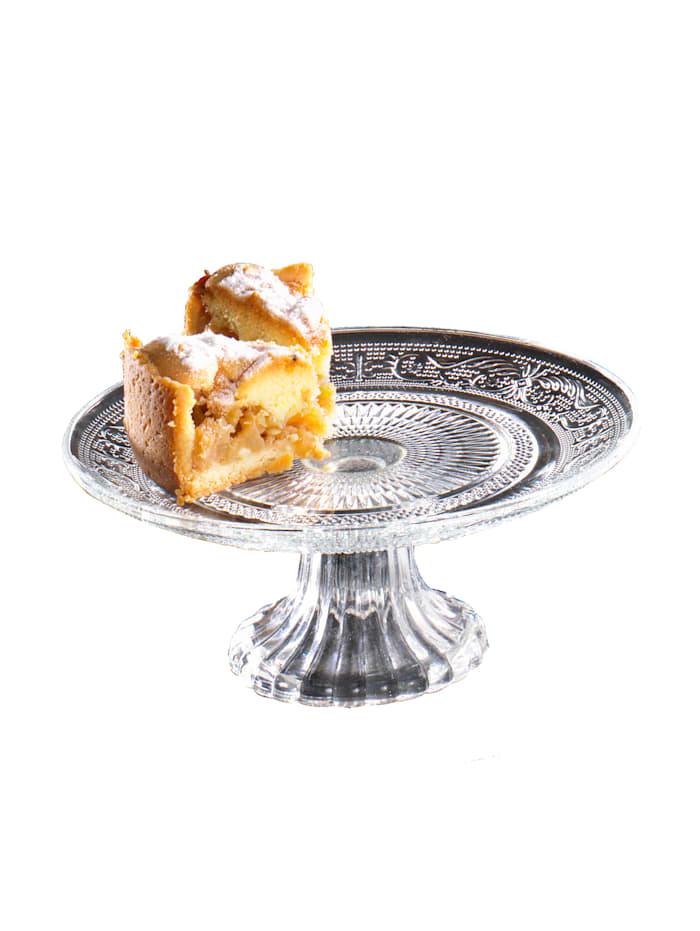Talíř na dorty, Ø cca 18 cm, Bezbarevná