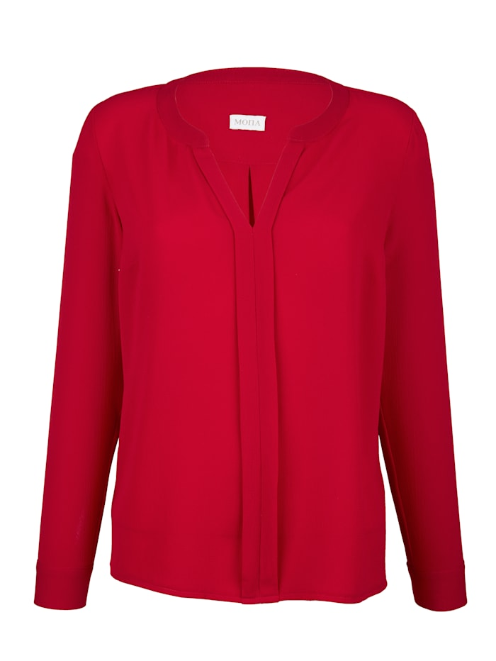 Pull-on blouse in light crêpe fabric