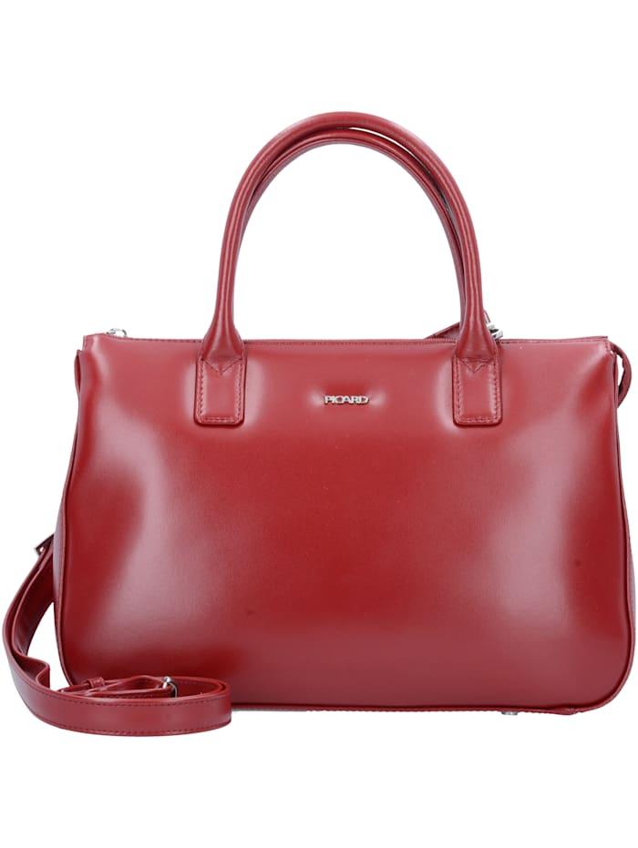 Picard Promotion 5 Handtasche Leder 32 cm Bodennägel, Stiftelaschen, rot