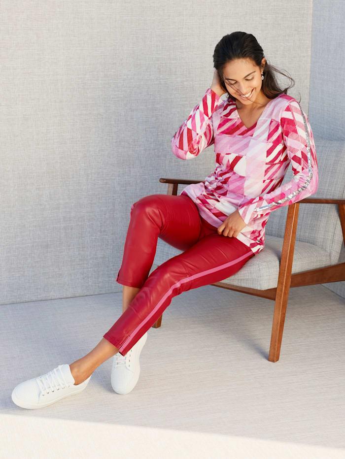 AMY VERMONT Pullover im allover Druck, Rosé/Pink