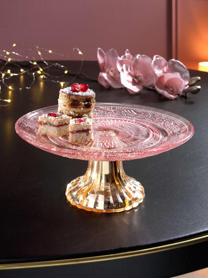 Boltze Présentoir à gâteau, Rose/coloris or