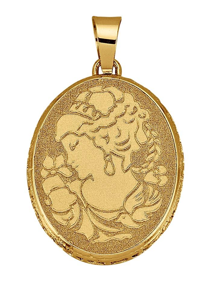 Diemer Gold Anhänger in Gelbgold 585, Gelbgoldfarben