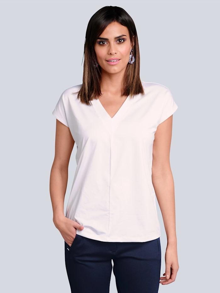 Alba Moda Shirt im Vorderteil mit effektvoller Mittelnaht, Weiß