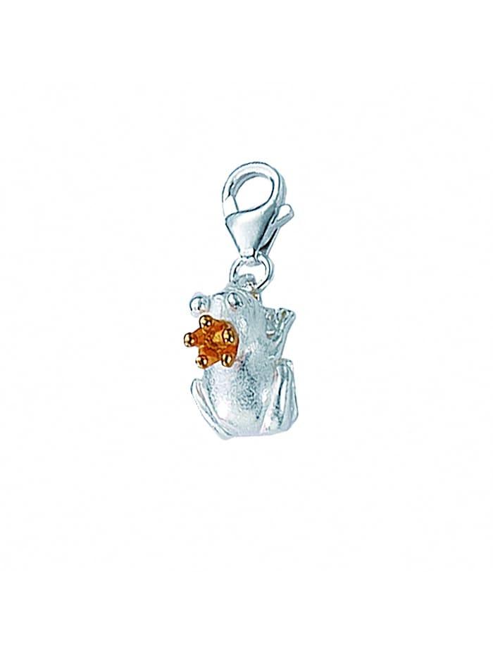 1001 Diamonds Damen Silberschmuck 925 Silber Charms Anhänger Frosch, vergoldet