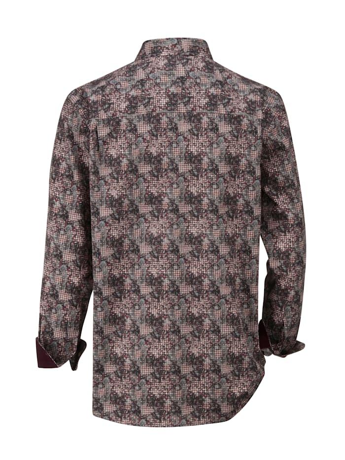Overhemd met modieus dessin rondom