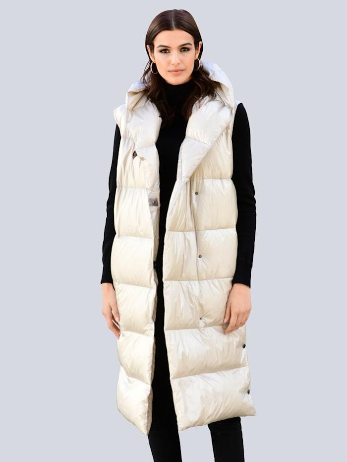Alba Moda Steppweste mit voluminösem Kragen, Stein
