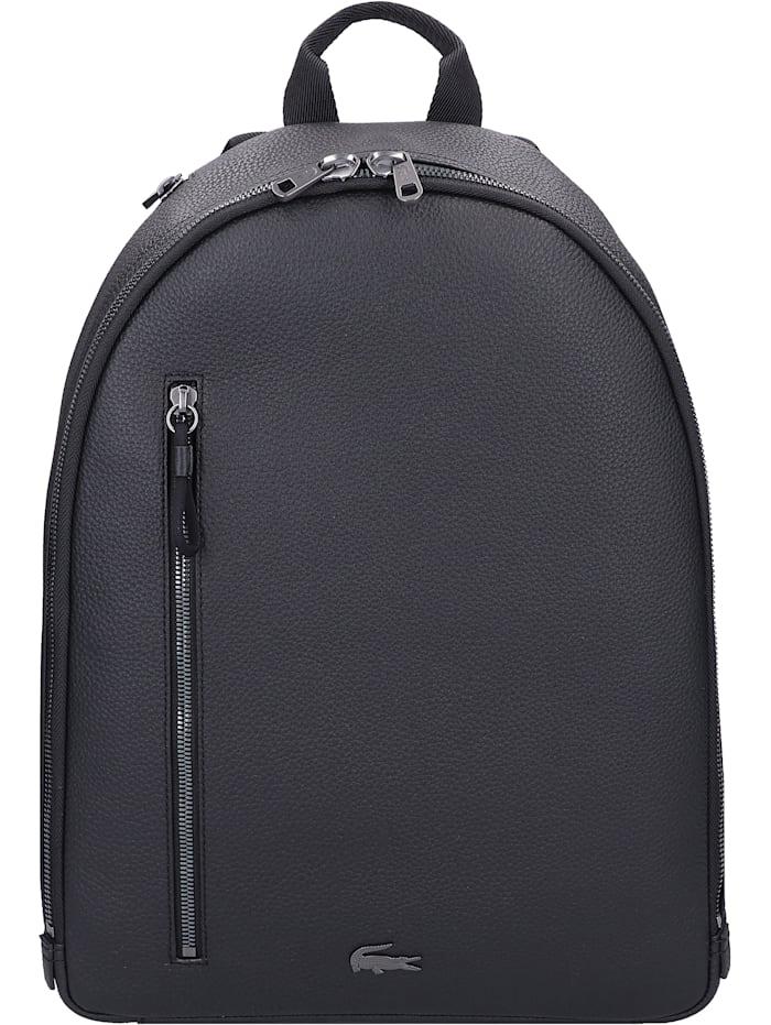 LACOSTE Soft Mate Rucksack Leder 40 cm Laptopfach, noir