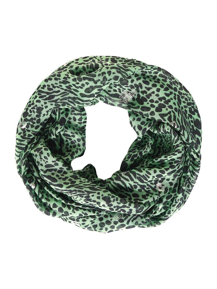 Cecil Loop mit Animal Print-Mix, bud green